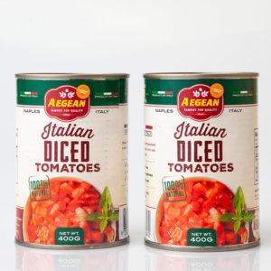Aegean Peeled/Diced Tomato 400 g