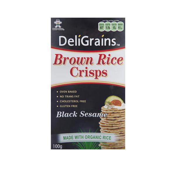 Deligrains Brown Rice Crisps  100g