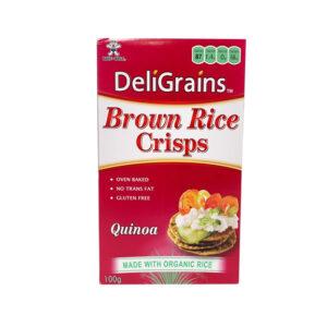 Deligrains Quinoa Rice Crisps  100g